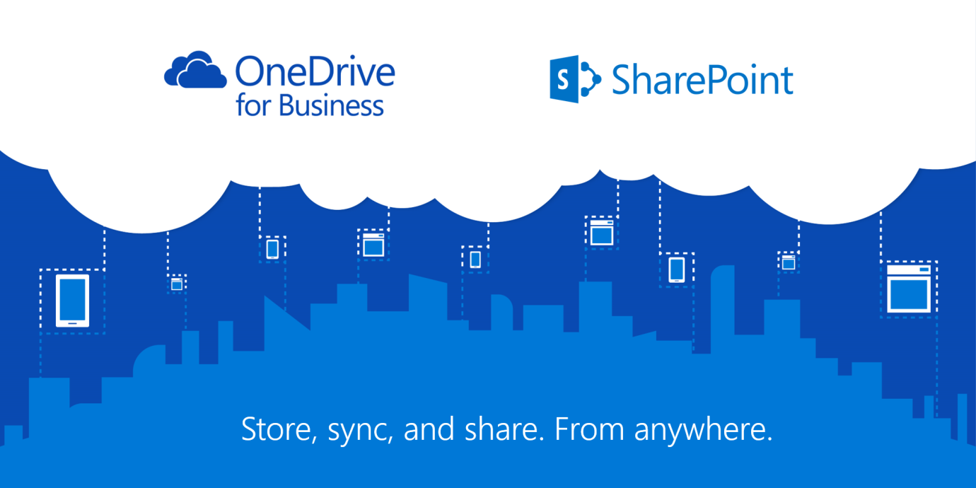 Microsoft's platform SharePoint and the cloud storage service OneDrive